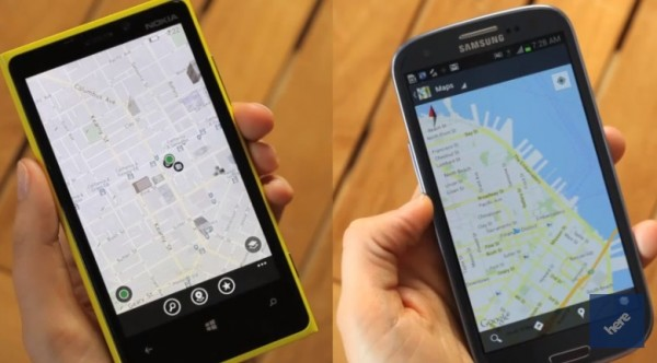 Nokia Cartes vs Google Maps