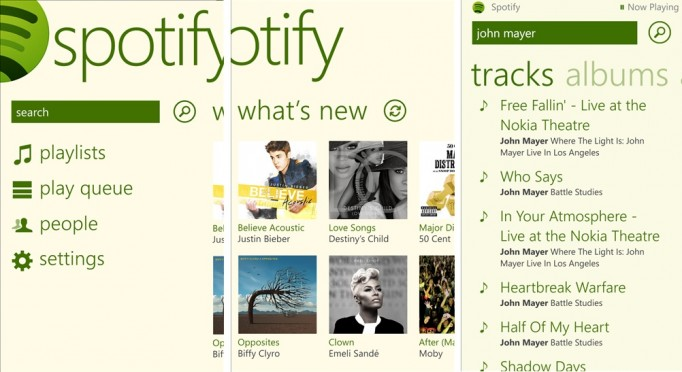 Spotify beta disponible pour Windows Phone 8