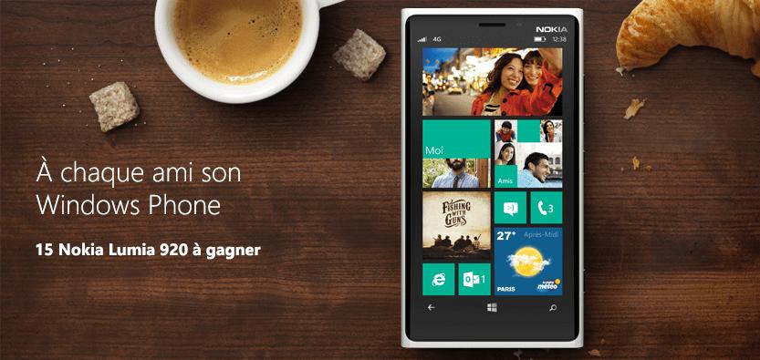 Concours Windows Phone France, 15 Nokia Lumia 920 à gagner !
