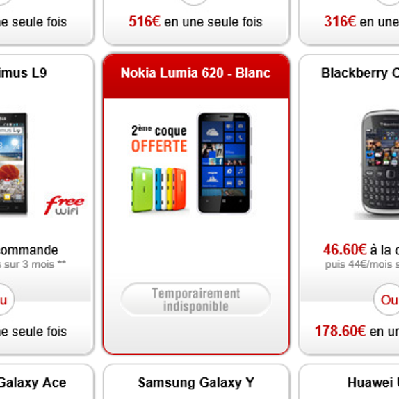 Free Mobile : Le Lumia 620 victime de son succès ?