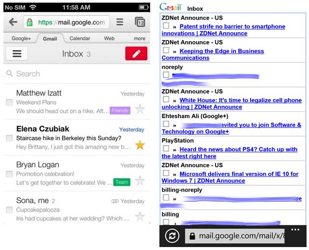 Google met à jour la webapp Gmail pour tout le monde sauf Windows Phone