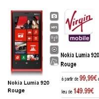 Le Lumia 920 à 99,99 € au lieu de 149,99 € chez Virgin !
