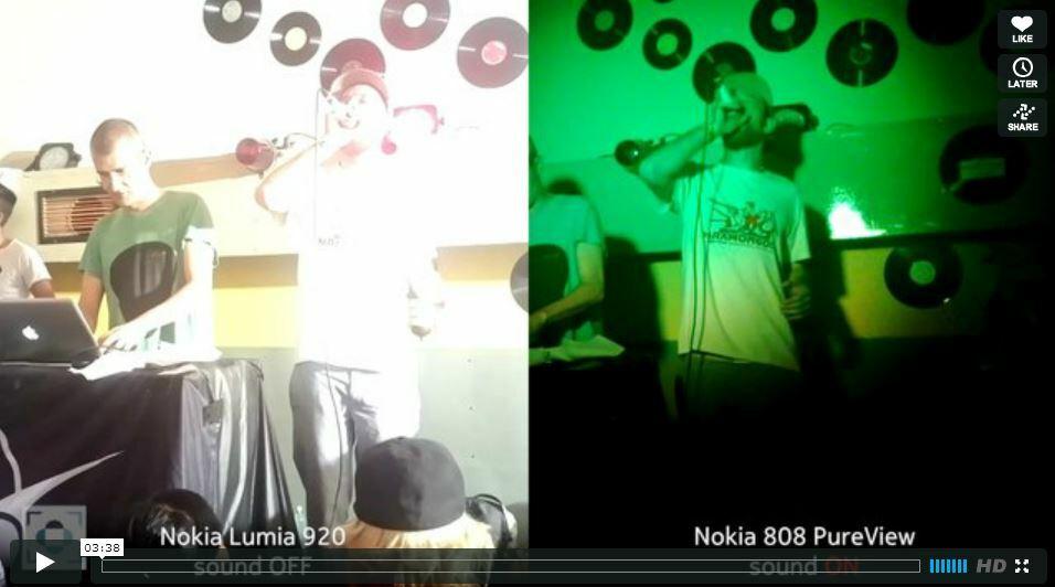 Enregistrement sonore: Lumia 920 VS Nokia 808 PureView