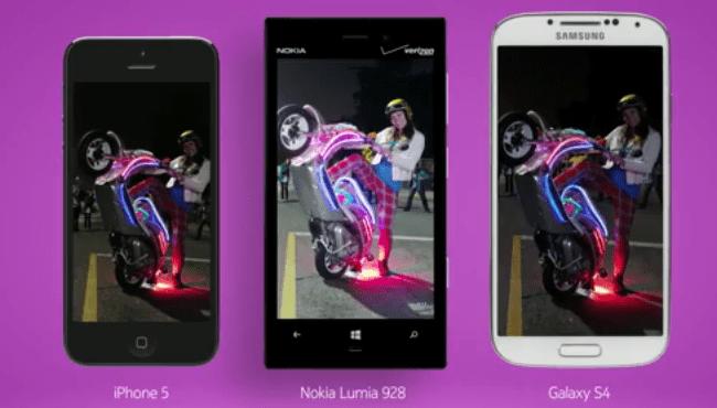 Publicité Verizon, le Nokia Lumia 928, meilleur smartphone pour la photo en faible luminosité
