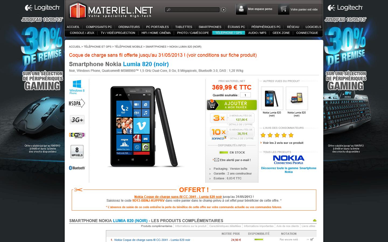 [Lumia 820] Coque de chargement sans fil offerte