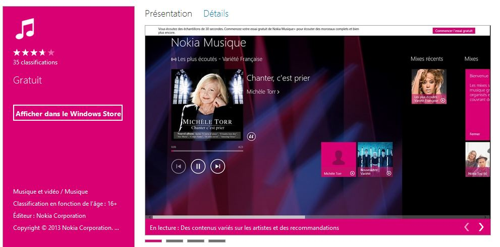 Nokia Musique enfin dispo en France pour Windows 8