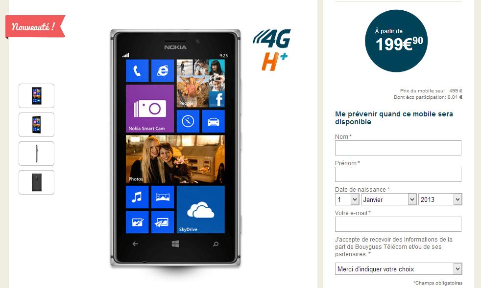 Nokia Lumia 925 disponible presque partout !