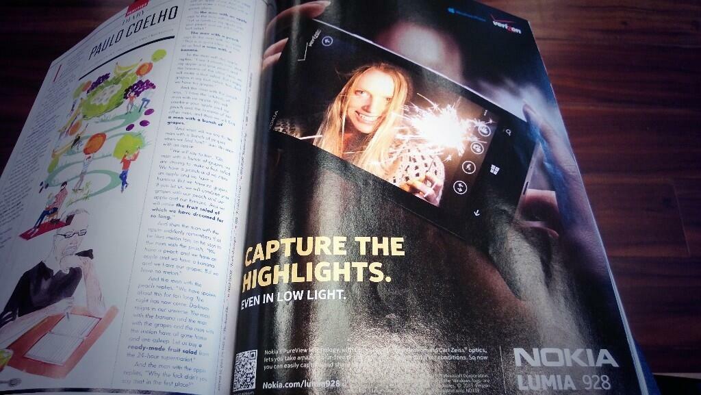 Belle pub pour le Lumia 928 aux USA