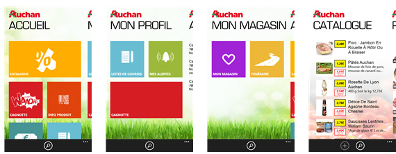 facilitez vous les courses avec l application myauchan pour windows phone 8 nokians la. Black Bedroom Furniture Sets. Home Design Ideas