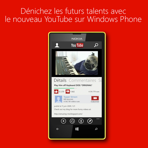[Lumia App] Youtube à nouveau disponible pour Windows Phone