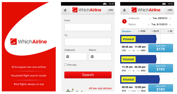 [Lumia App] Découvrez WhichAirline pour trouver le vol le moins cher