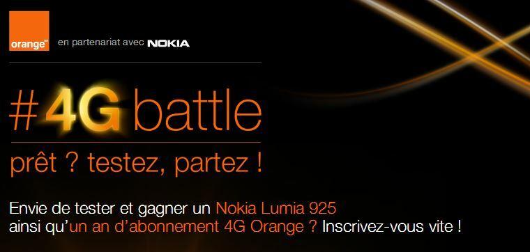 Testez la 4G et gagnez un Nokia Lumia 925