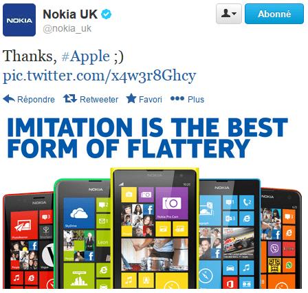 Énorme succès pour le troll de Nokia envers l'iPhone 5C d'Apple