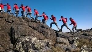 Essai SmartCam sur montée de rocher