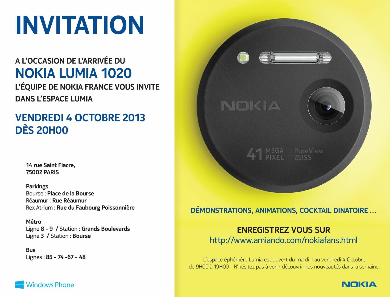 [Lumia Week] Soirée des fans de Nokia le vendredi 4 Octobre