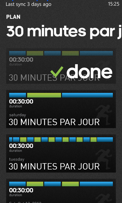 Test de l'application miCoach de Adidas pour Windows Phone