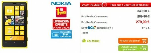 Vente flash le nokia lumia 920 jaune 279 chez rue du - Frais de port gratuit rue du commerce ...