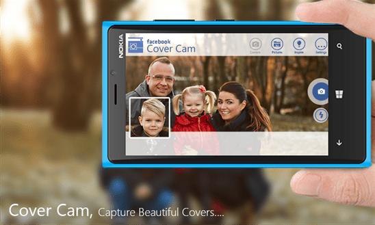 [App Lumia] Découvrez Cover Cam pour créer de belles couvertures sur Facebook