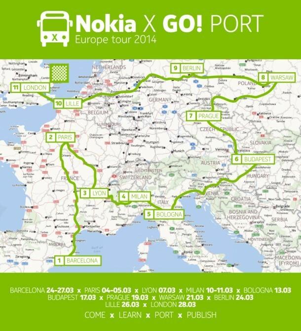 Retrouvez le bus nokia x en europe et en france avec nokia x get started portathons - Port de javel haut 75015 paris ...