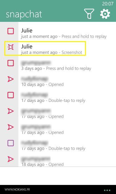 Lumia app les copies d cran screenshots arrivent dans for Screenshot ecran