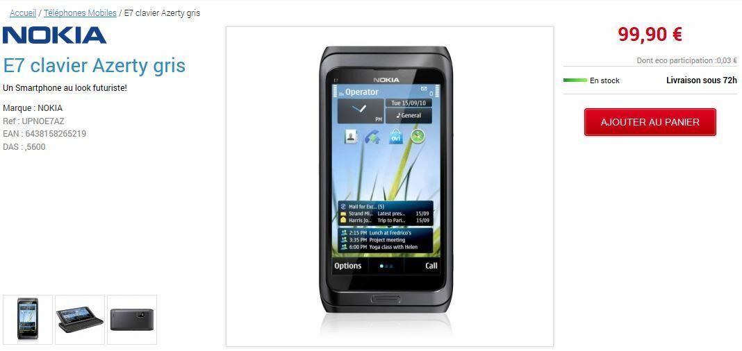 [Nostalgie] Nokia E7 et Nokia X7 à moins de 100€ chez Internity