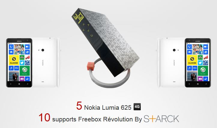 [Concours] Des Nokia Lumia 625 à gagner chez Free !