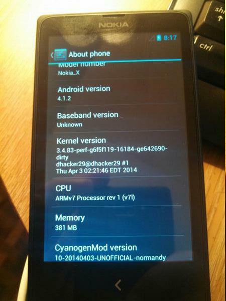 CyanogenMod s'invite sur le Nokia X