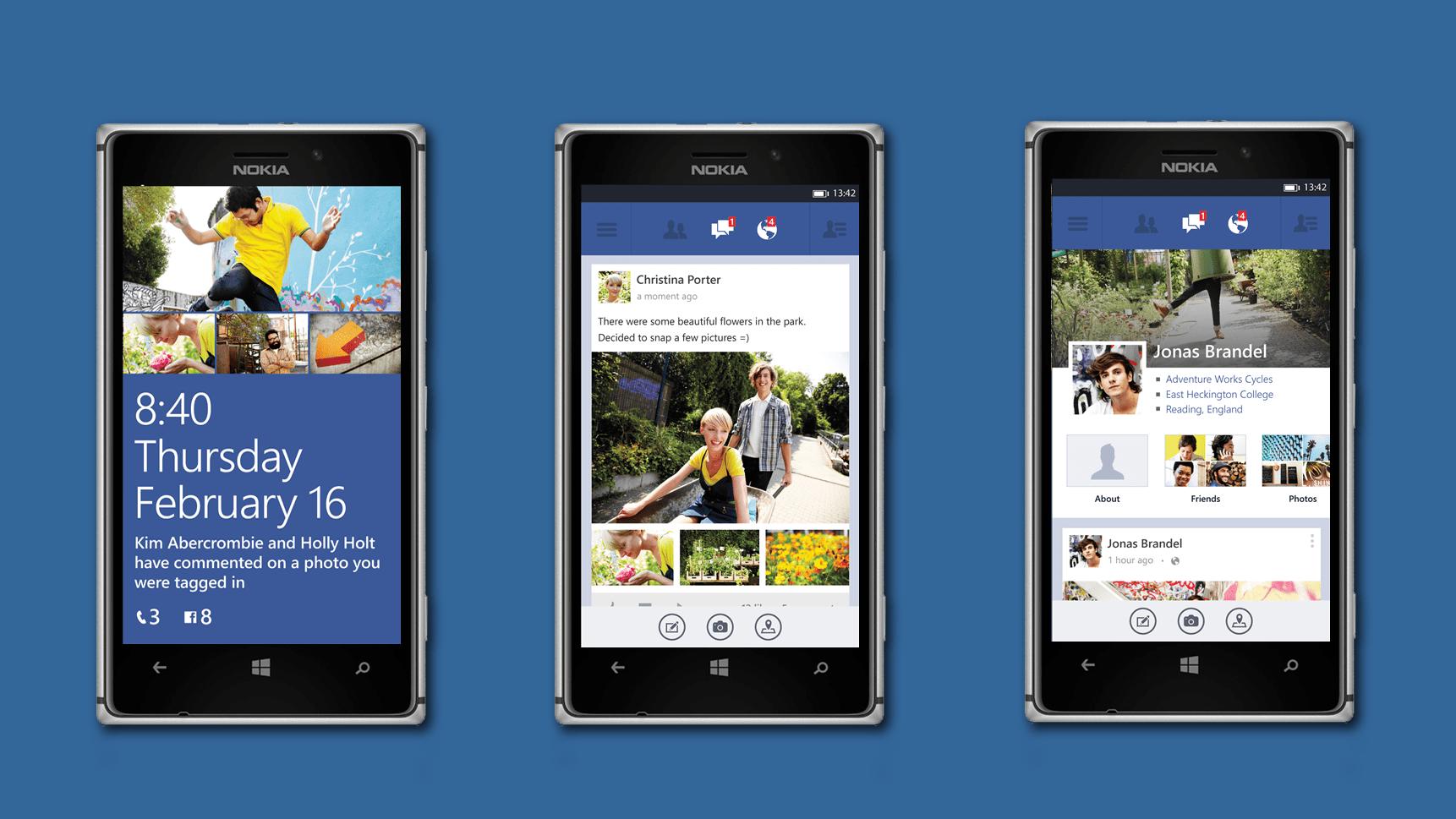 Nouvelles apps Facebook et Skype à venir pour WP 8.1