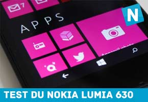 Test de la tablette Nokia Lumia 630