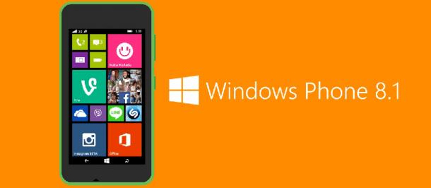 Lumia 530 Windows Phone 81