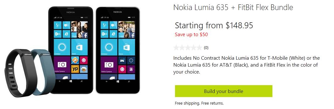 [Offre] Nokia Lumia 635 + Fitbit Flex sur le Microsoft Store US