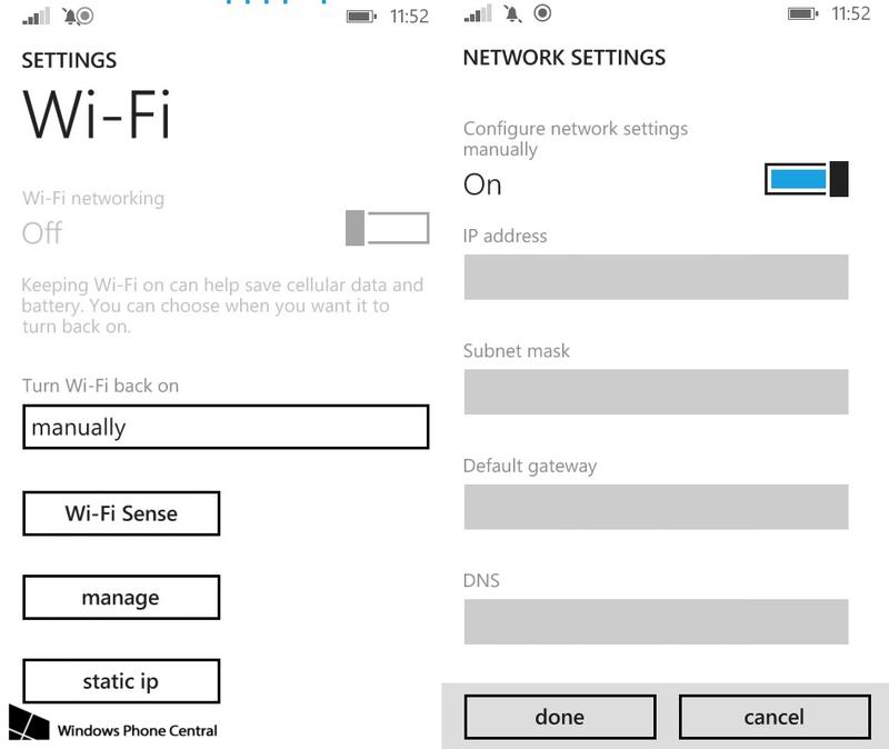 [MAJ] L'option IP statique arrive enfin sur vos Lumia