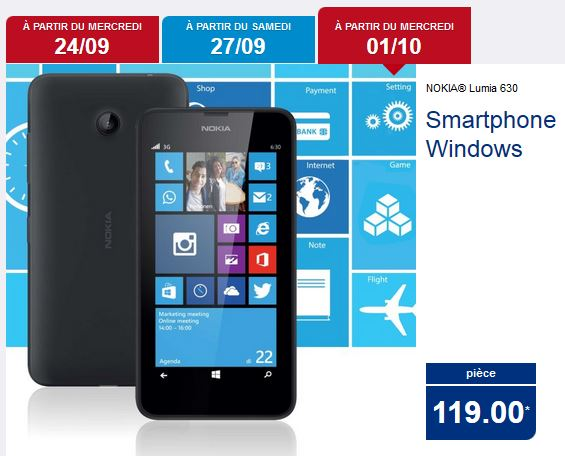 [Offre] Lumia 630 pour seulement 119€ en Belgique et au Luxembourg