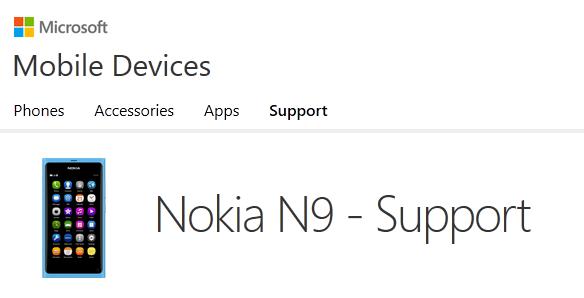 Le Nokia N9 fait son apparition sur le site de Microsoft