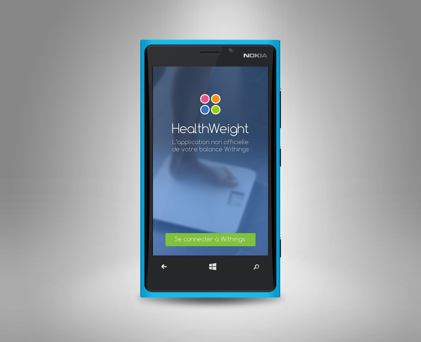 [Application] Découvrez #HealthWeight pour suivre votre poids avec votre balance #Withings sur Windows Phone