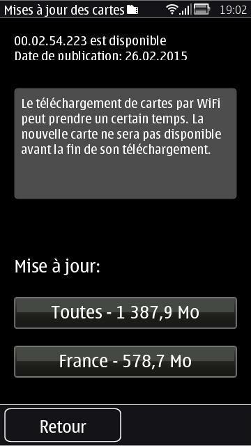 Mise à jour symbian Maps