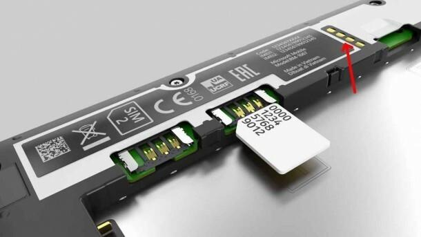 Nokia 640 XL batterie connecteurs