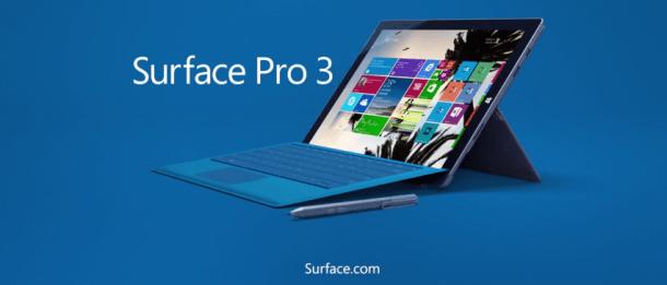 Ventes flash sur les Surface Pro 3 à la Fnac jusqu'au 02 mai