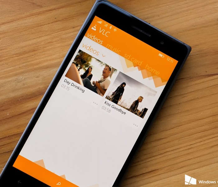 Mise à jour de l'application VLC sur Windows Phone et Windows 8.1