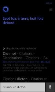 Cortana Dicton