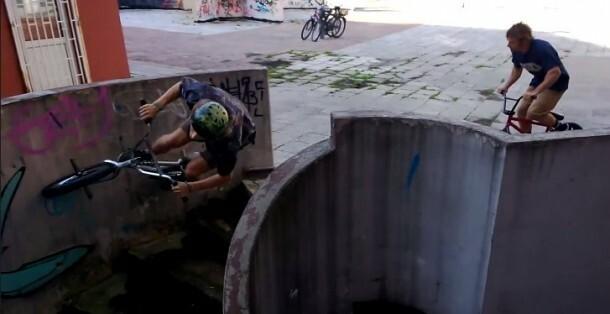 Luc Legrand Erik Elstran Wall Ride