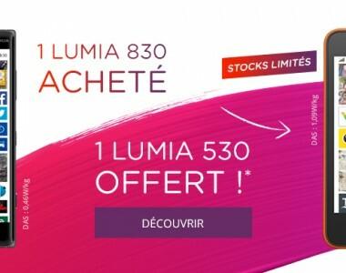 [Offre] Un Lumia 830 acheté, un Lumia 530 offert avec Virgin Mobile !