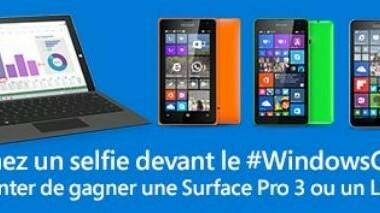 [Concours] Tentez de gagner une Microsoft Surface Pro 3 ou un Lumia avec Selfies #WindowsCube