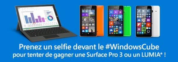 Concours Selfies Windows Cube