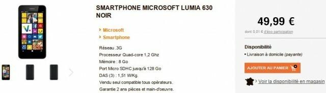Leclerc Microsoft Lumia 630 noir