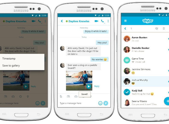 [App]  Mise à jour de Skype pour Android