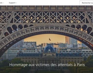 Microsoft rend hommage aux victimes des attentats de Paris