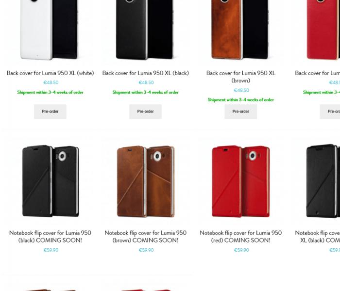 Mozo propose de nouveaux modèles de coques pour vos Lumia 950/950XL