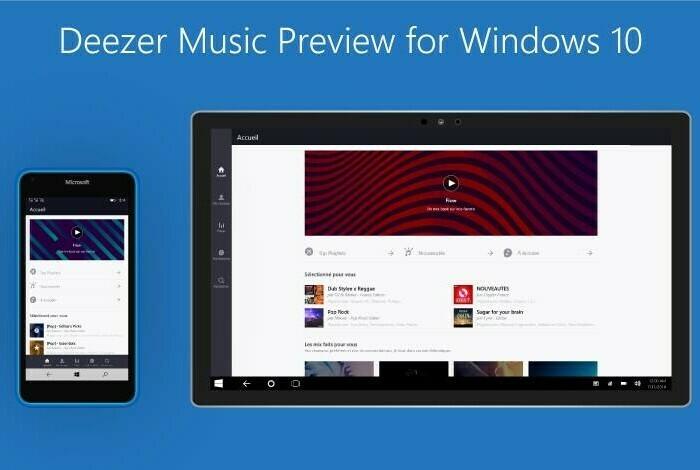 [App] Inscrivez-vous à la preview de Deezer sous Windows 10 !