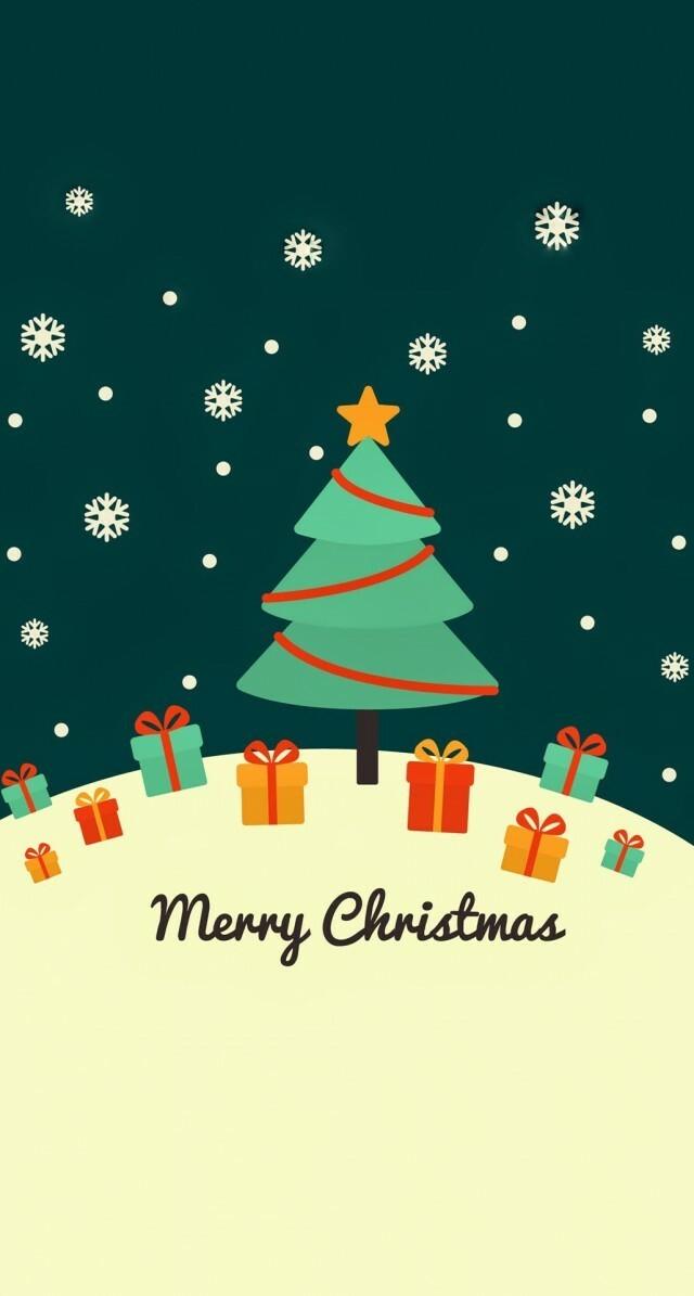 Cute-Christmas-Card-Greeting-iPhone-6-Plus-HD-Wallpaper